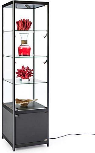 illuminated glass shelves black illuminated tower display tempered glass