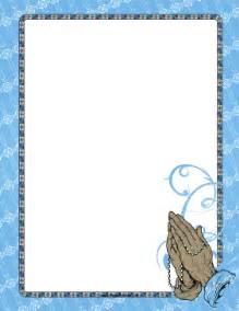 Blue religious cross border page border