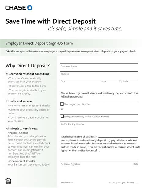 authorization letter for bank deposit pdf free bank direct deposit authorization form pdf
