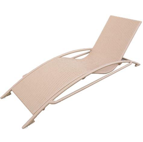 lettino chaise longue marianne in rattan sintetico e