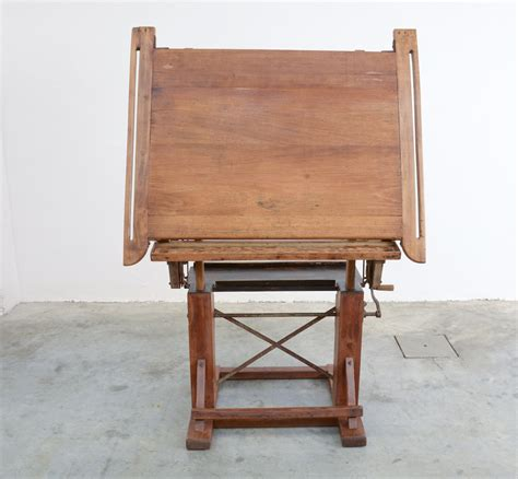 Drafting Table Wooden Impressive Industrial Wooden Drafting Table Vintage Design Point
