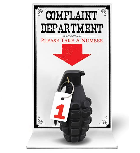 Complaint Department by Complaint Department Grenade Wall Desk Display Issue