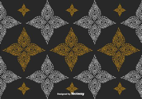 thai pattern background vector free thai pattern vector download free vector art stock