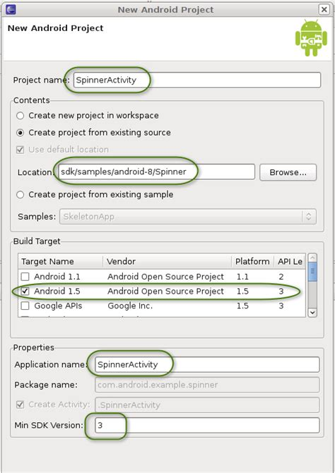 tutorial android project eclipse activity testing tutorial android developers