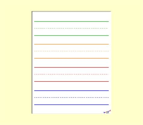 Paper With Children - printable lined paper for