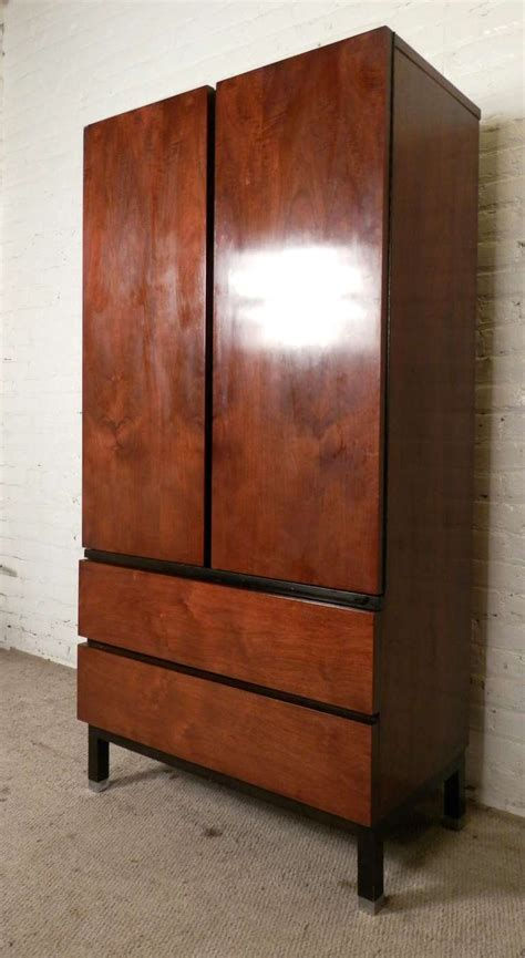 armoire or dresser sleek mid century modern armoire style dresser by