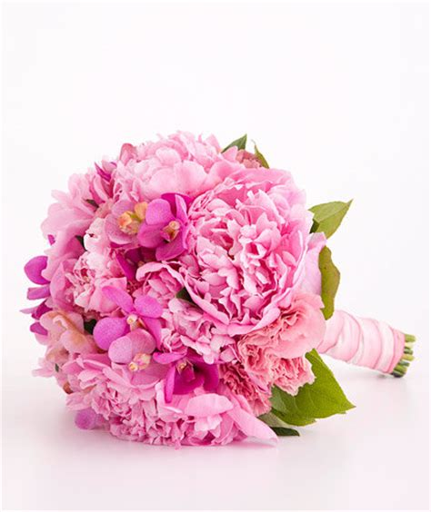 peonies and orchids peony orchid and lisianthus mix pink wedding flowers