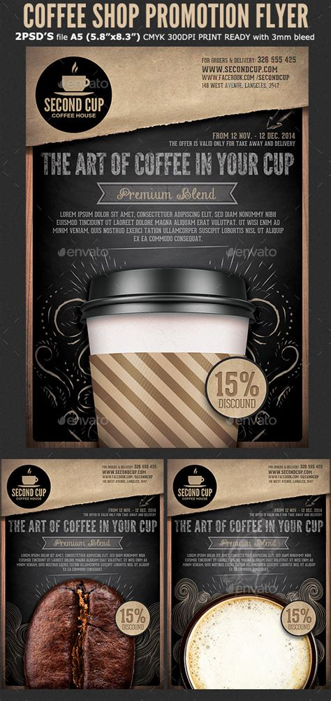 coffee shop promotion flyer template coffee shop flyer