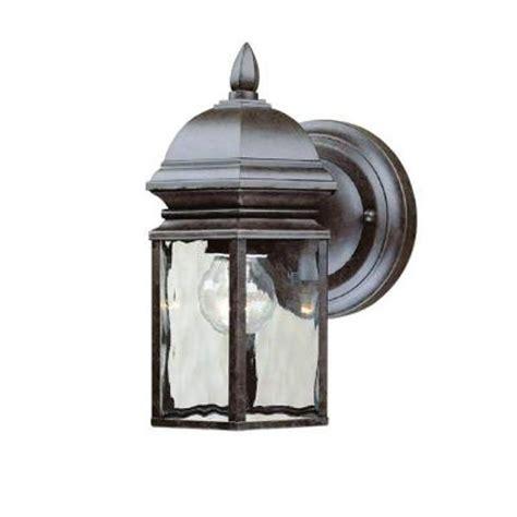 Hton Bay Georgetown 1 Light Outdoor Bronze Wall Lantern Hton Bay Outdoor Lights
