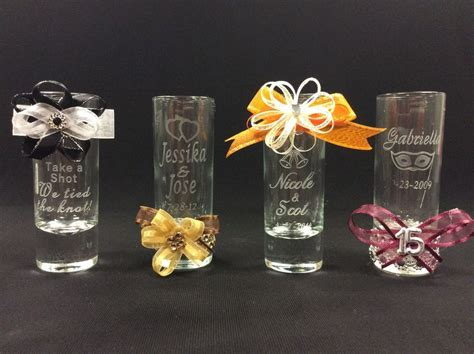 wedding supplies personalized shot glasses party favors wedding favors