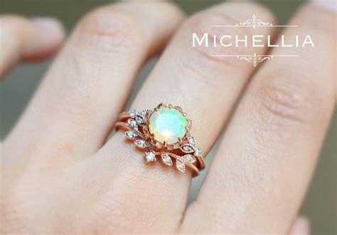 evanthe opal engagement ring vintage floral ring in opal