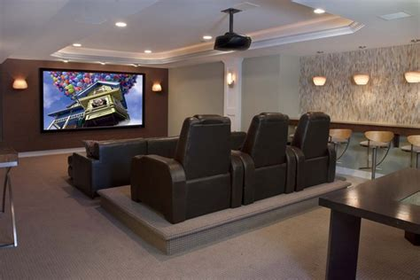 Home Cinema Decorating Ideas by Contemporary Family Entertainment Contemporary Home