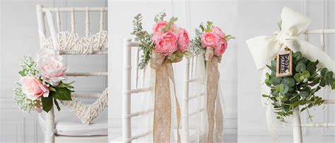 Stuhldekoration Hochzeit by 8 Beautiful Diy Wedding Chair Decorations