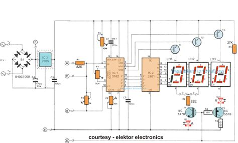 digital voltmeter circuit diagram how to make a digital voltmeter ammeter circuit module