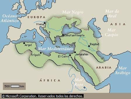 otomano tiempo continente de asia