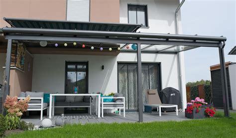 terrassendach markisen terrassendach mit teilbeschattung markise gestreift