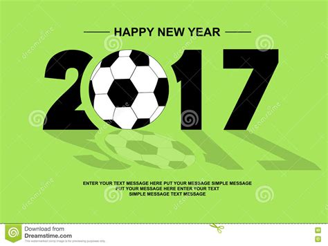 new year s day football 2017 happy new year football stock vector image 81834390