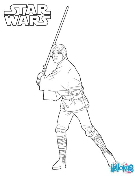 coloring pages wars luke skywalker luke skywalker coloring pages hellokids