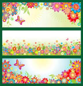 free floral amp butterfly banners psd banners