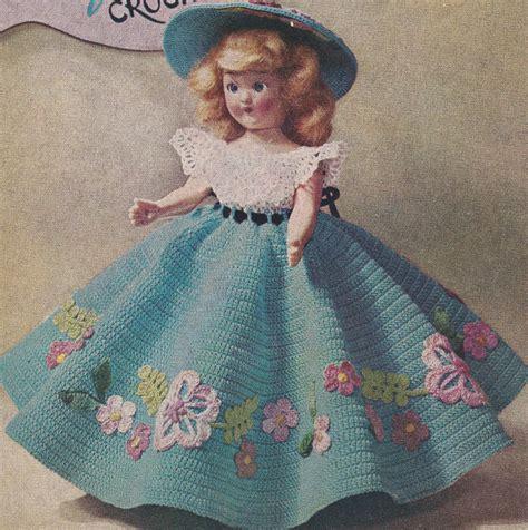 pattern crochet doll dress vintage crochet pattern to make 7 8 inch doll clothes