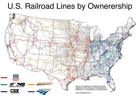 united states rail map u s rail lines by owner maps on the web