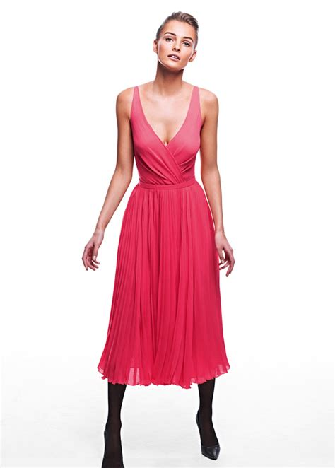 Lace Up Cotton Skirt Mango lyst mango pleated midi dress in pink