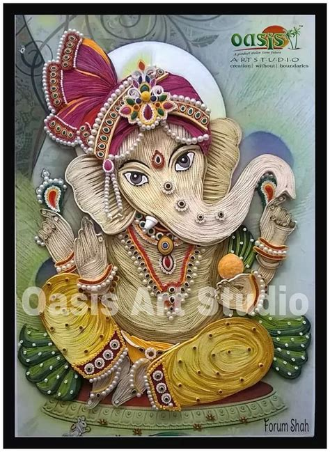 Handmade Ganesh Ji - 102 best images about ideas for quilled lord ganesha on