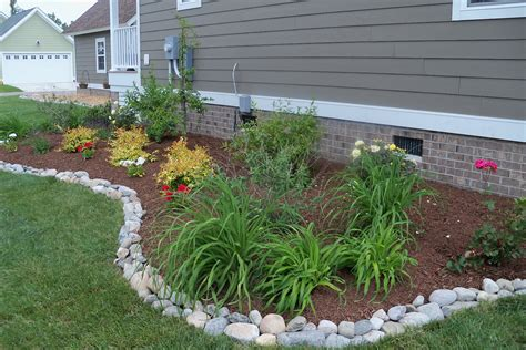 Rock Garden Borders Rustic Touch Of Landscape Edging Landscaping Gardening Ideas