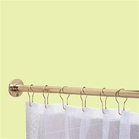 how long is a shower curtain rod shower curtain rods solid brass 6 long brass shower