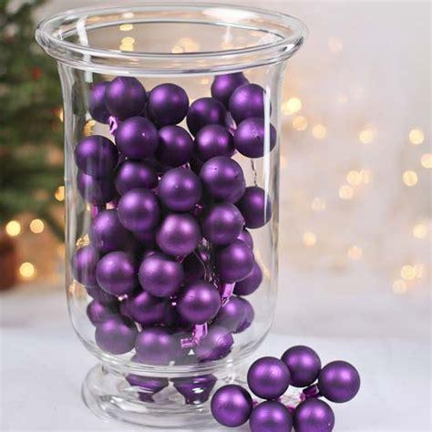 Purple Glass Vase Fillers by Matte Purple Glass Ornament Picks Vase Fillers Table