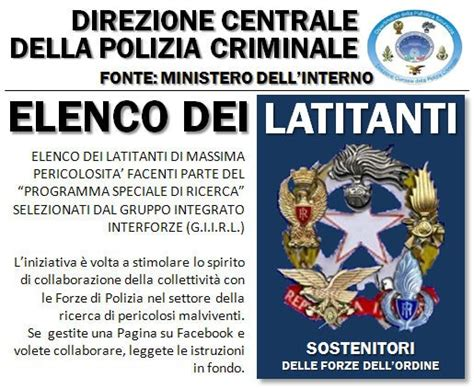 ministero dell interno latitanti latitanti cercasi s i d school of israeli defense