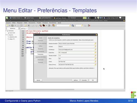 configurando o geany para python 03 2012 gt gt 22 pretty