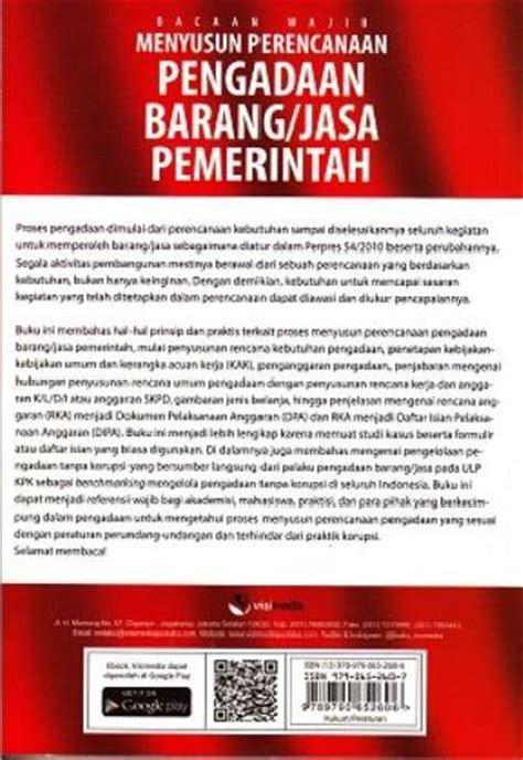 Buku Pegangan Pengadaan Barang Dan Jasa bukukita bacaan wajib menyusun perencanaan pengadaan barang jasa pemerintah