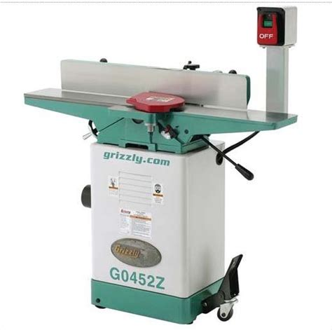 woodworking jointer reviews review grizzly g0452z 6 jointer with spiral cutterhead