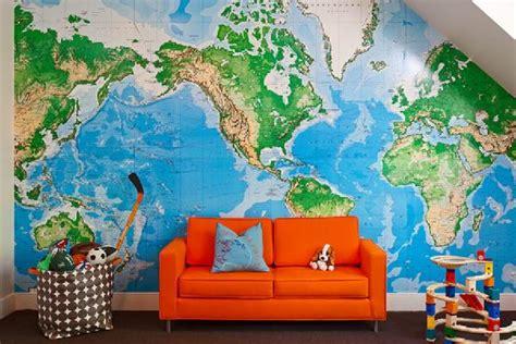 World Map Wallpaper Atlas Wall - decorar mapa mundi muito estilo papo de design