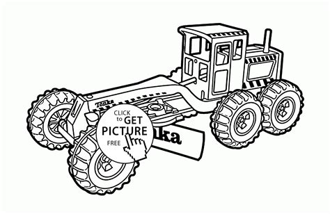 construction truck tonka coloring page for kids