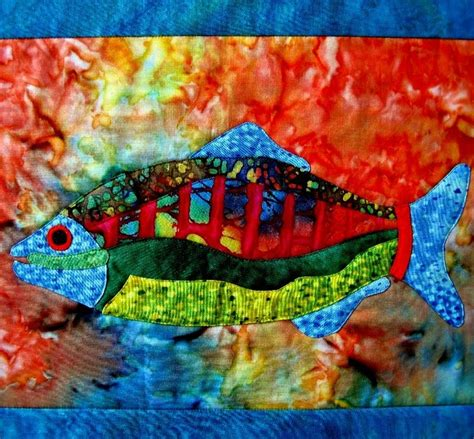 Batik Ish Tank 52 best quilting fish images on embroidery