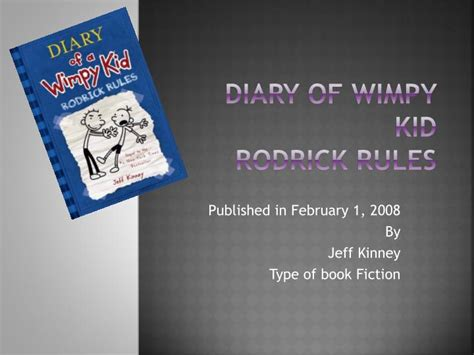 diary of a wimpy kid rodrick book report summary ppt diary of wimpy kid rodrick powerpoint