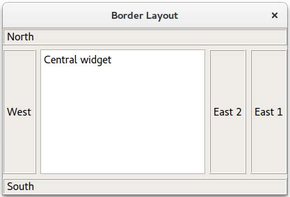 qt layout management border layout exle qt widgets 5 10