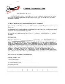 salon chemical service waiver fill online printable