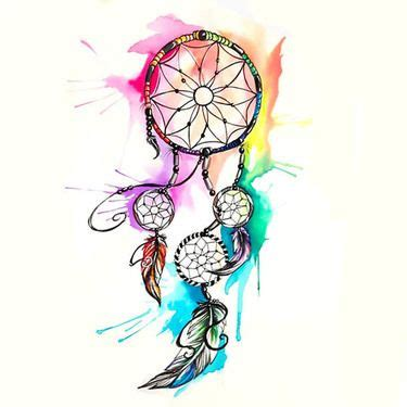 watercolor tattoo watercolor dreamcatcher tattoo design