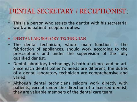 Dental Laboratory Technician Description Dental Auxiliary