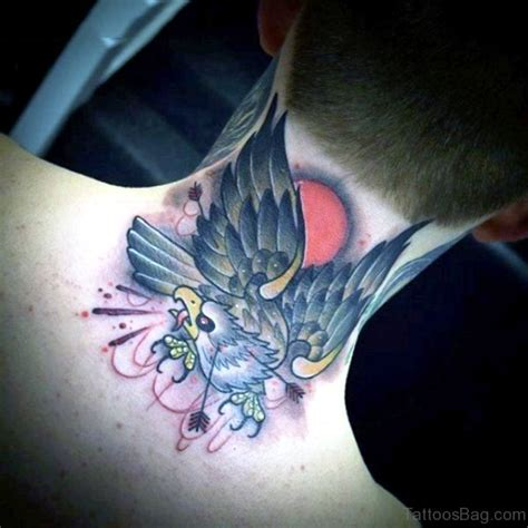 eagle tattoo on neck meaning 35 traditional eagle tattoos on neck