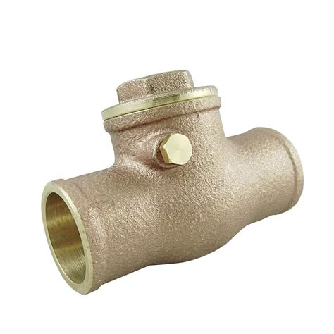 brass swing check valve 3 4 in swing check solder brass valve uv66304 the home