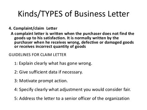 What Are The Kinds Of Business Letter According To Purpose business communication complete note