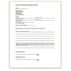 Rescinding Resignation Letter by Sle Form To Rescind Resignation Apps Directories