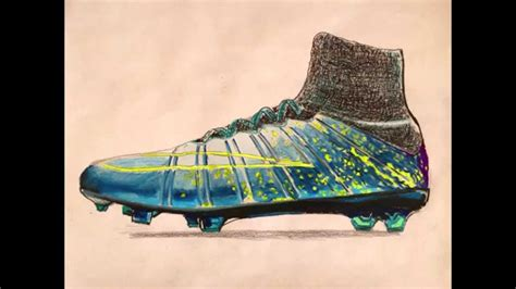boat cleat drawing drawn boots football pencil and in color drawn boots