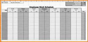 Employee Schedule Template Excel by Work Schedule Template Excel Employee Work Schedule