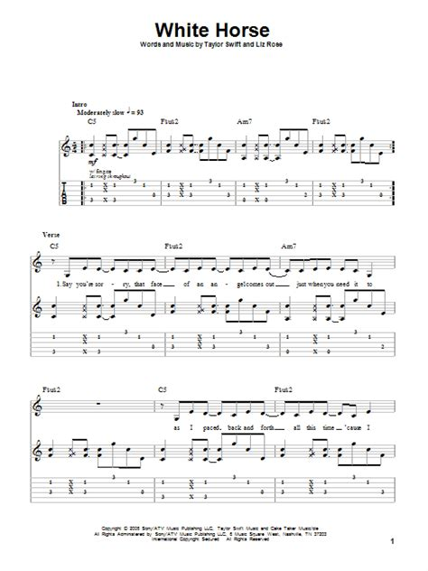 taylor swift delicate lyrics and chords white horse sheet music direct