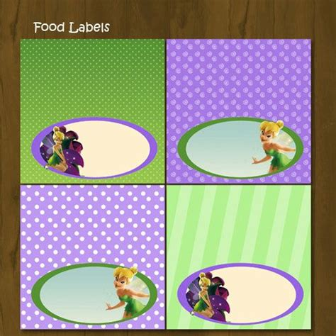 free printable tinkerbell party decorations tinkerbell printable food labels tinkerbell food labels
